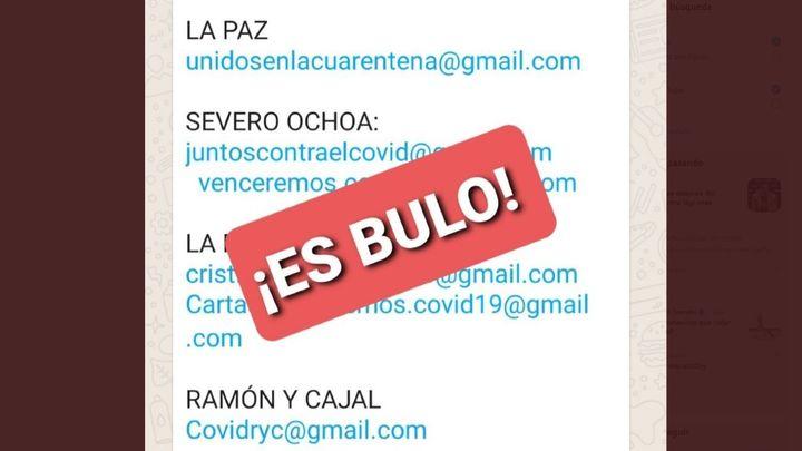 Aumentan los falsos anuncios para trabajar en los hospitales de Madrid
