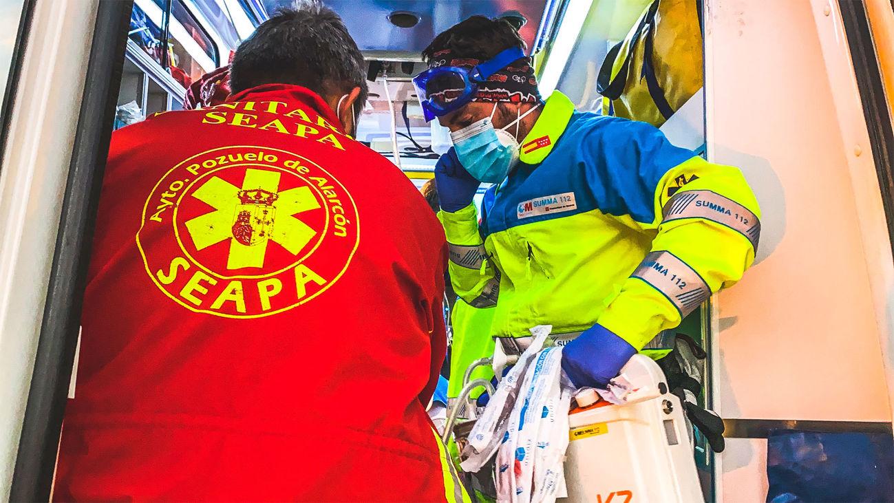 Herido grave un motorista tras colisionar con un turismo en Pozuelo de Alarcón