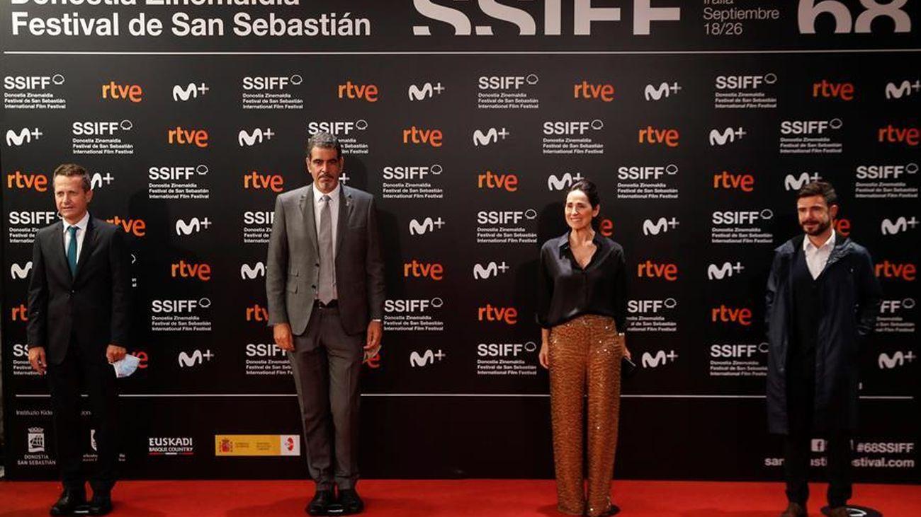 Alfombra roja de la gala de clausura del 68 Festival Internacional de Cine de San Sebastián