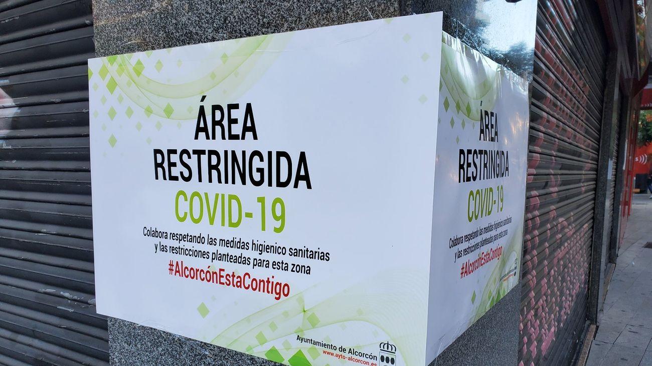 La Comunidad deja ahora fuera de las restricciones la zona comercial de Alcorcón norte