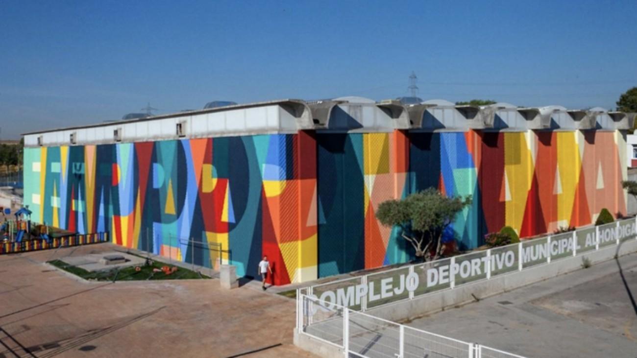 Los coautores del edificio de Fisac exigen a la alcaldesa de Getafe que limpie las pintadas de Boa Mistura