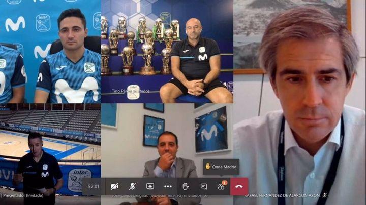 La original presentación virtual del Movistar Inter por culpa del covid-19