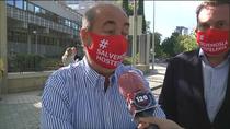 Caravana de protesta de los hosteleros madrileños para pedir la prórroga de los ERTEs