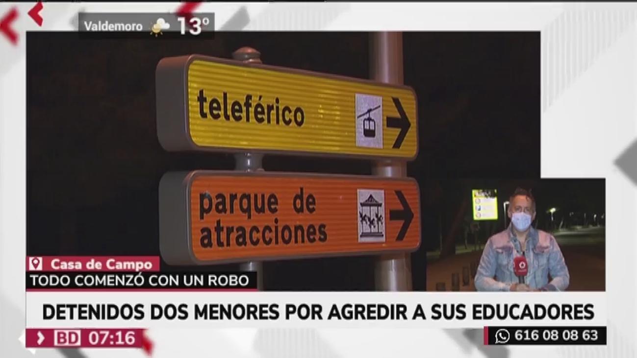 Detenidos dos 'menas' por agredir a sus educadores y a policías en la Casa de Campo