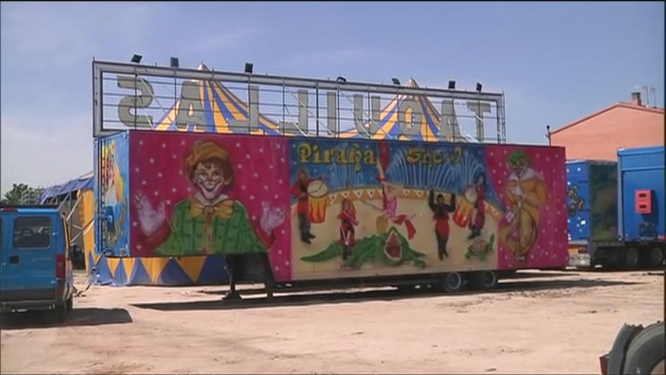 La ruina de un circo,  siete meses acampados sin ningún tipo de ingresos