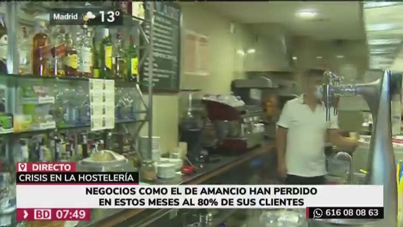 Los  bares y restaurantes de zonas de oficina se quedan vacíos por el teletrabajo