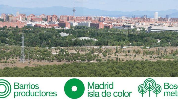 Así será 'Madrid, isla de colores', el cinturón verde de 75 km que rodeará la capital