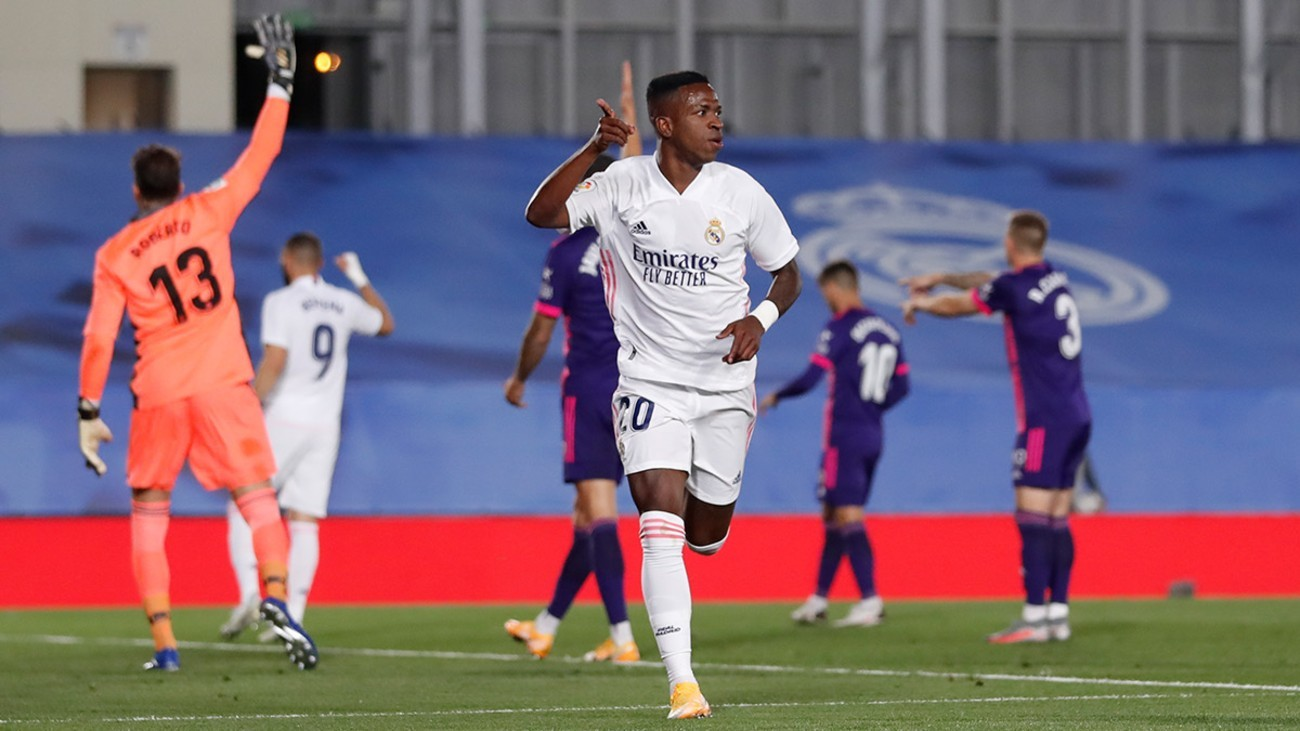 1-0.  Vinicius salva al Real Madrid ante el  Valladolid