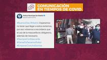 Un tuit de la policía madrileña causa indignación en redes