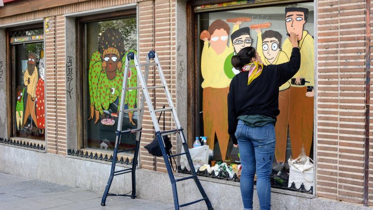 CREA, el festival que colorea los escaparates de Alcobendas