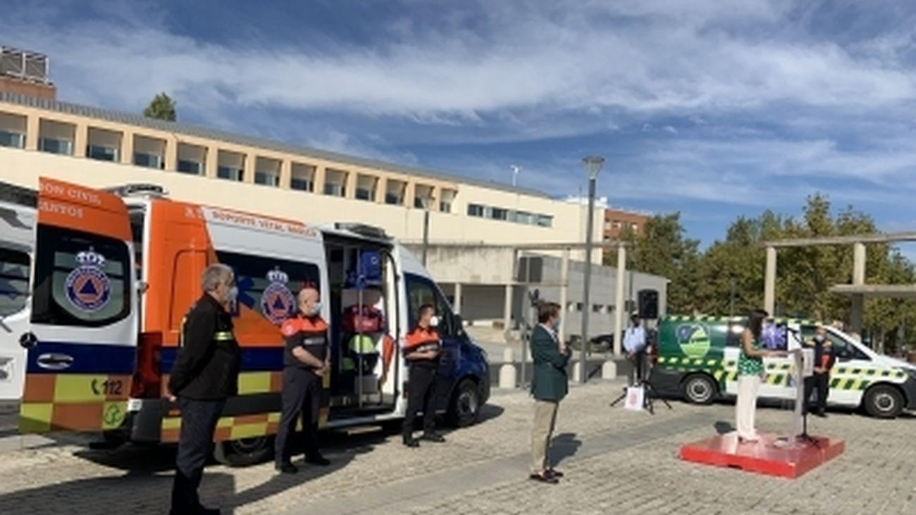 La ambulancia municipal de Tres Cantos realiza más de 1.000 intervenciones en su primer año