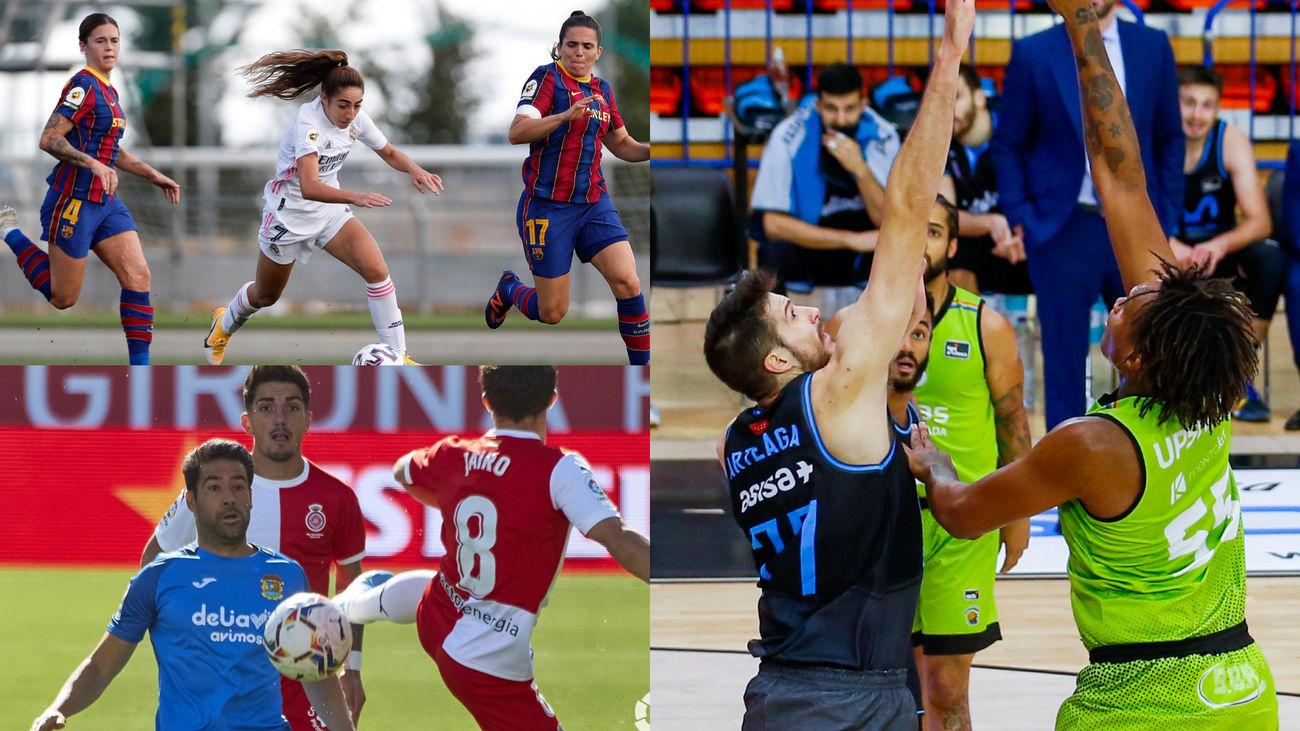Real Madrid-Barcelona, Girona-Fuenlabrada y Estudiantes-Fuenlabrada