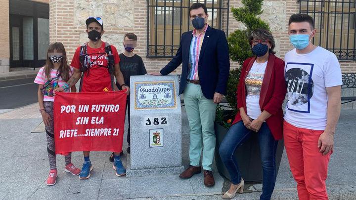 De Madrid a Guadalupe, cuatro días sin parar de correr para visibilizar la ELA