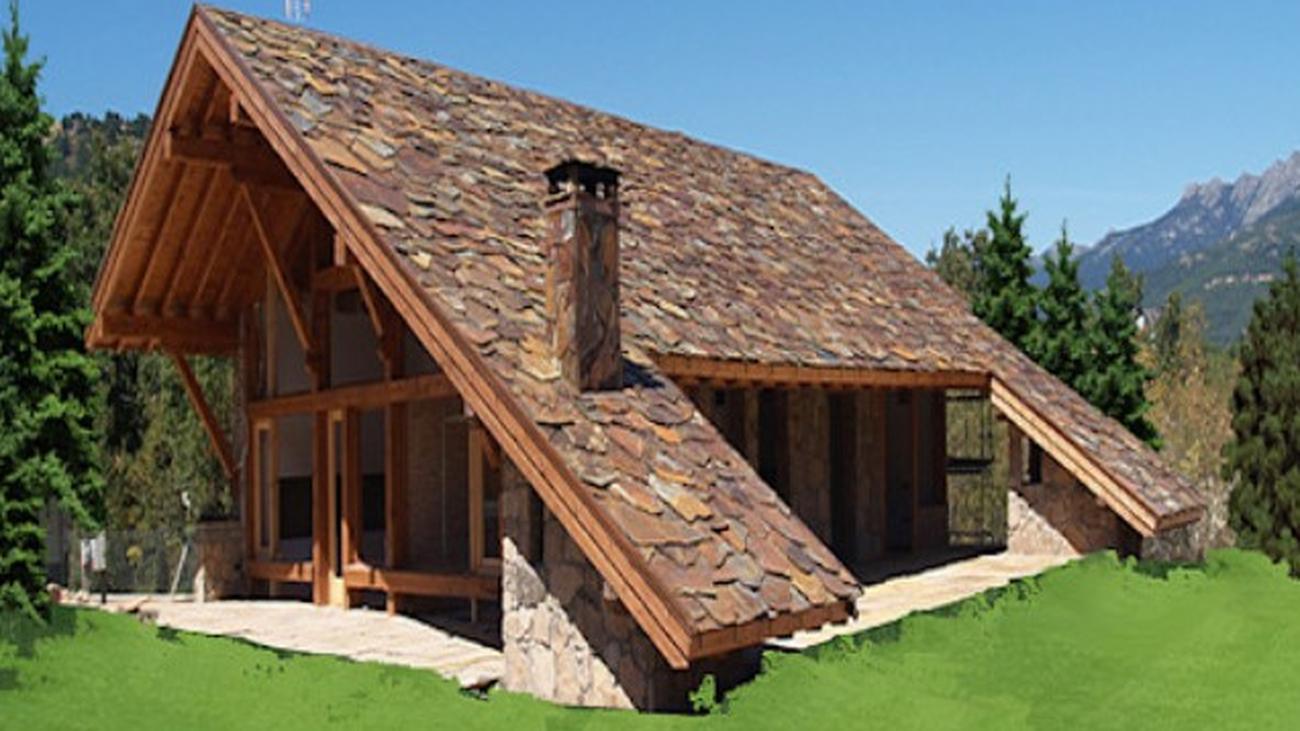 La increíble vivienda del tejado hasta el suelo de Becerril de la Sierra