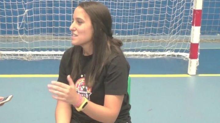 María Alirangues, entrenadora del Balonmano Pinto, pone voz a las quejas de los clubes madrileños