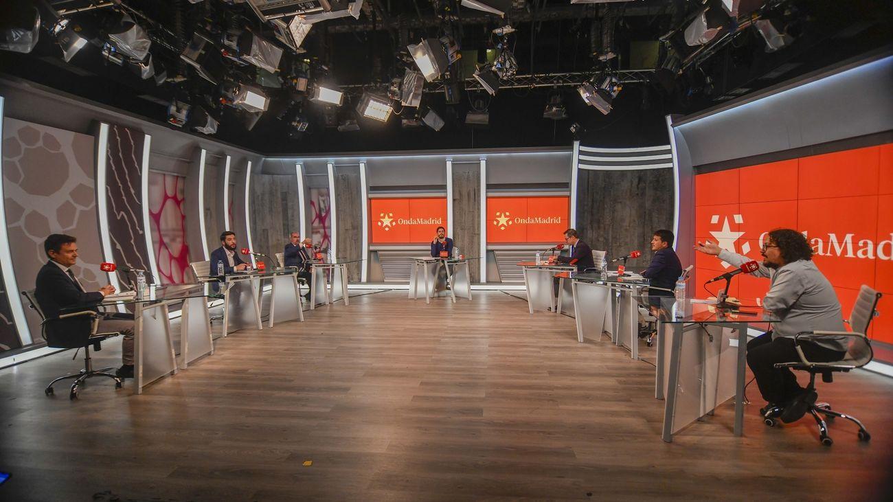 Los seis portavoces de la Asamblea, cara a cara en Onda Madrid con la tertulia quincenal 'Madrid, a debate'
