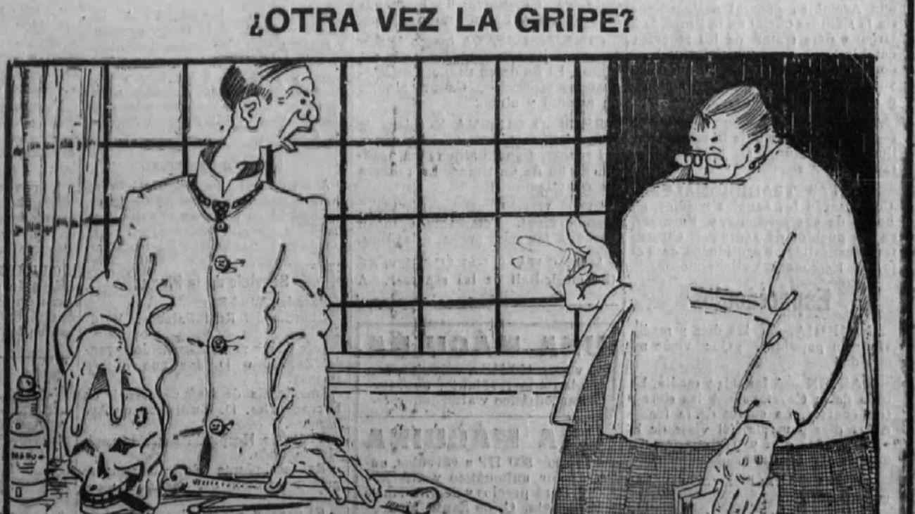 'Otra vez la gripe'. El Fígaro, 14 de septiembre de 1918