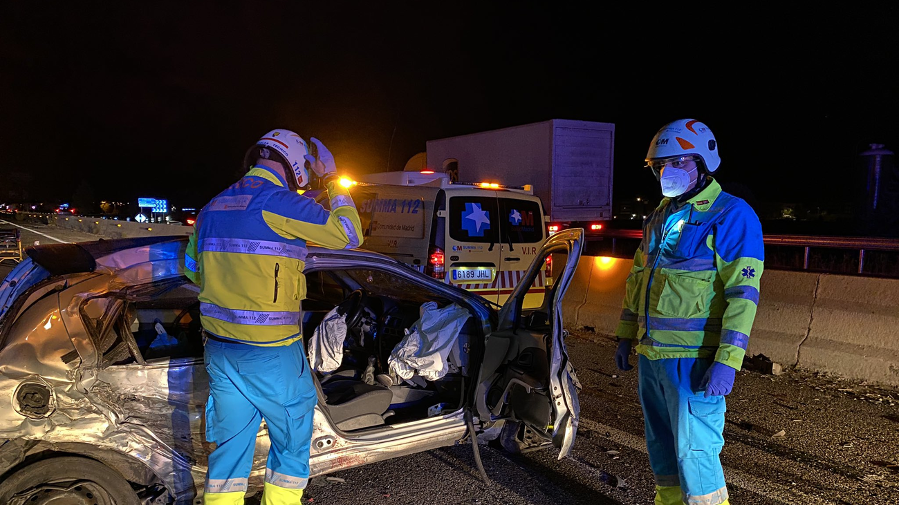 Un fallecido y cinco heridos en un accidente múltiple en el kilómetro 29 de la A-5 a la altura de Navalcarnero