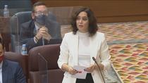 """Ayuso asegura que el Gobierno impuso el estado de alarma en Madrid """"a punta de pistola"""" y no le dio opción"""
