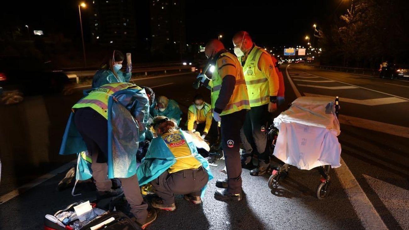 Herido grave un motorista al salir despedido unos 40 metros en la M-11