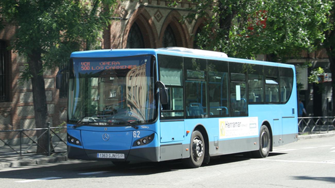 Uno de los autobuses privados que circula por Madrid