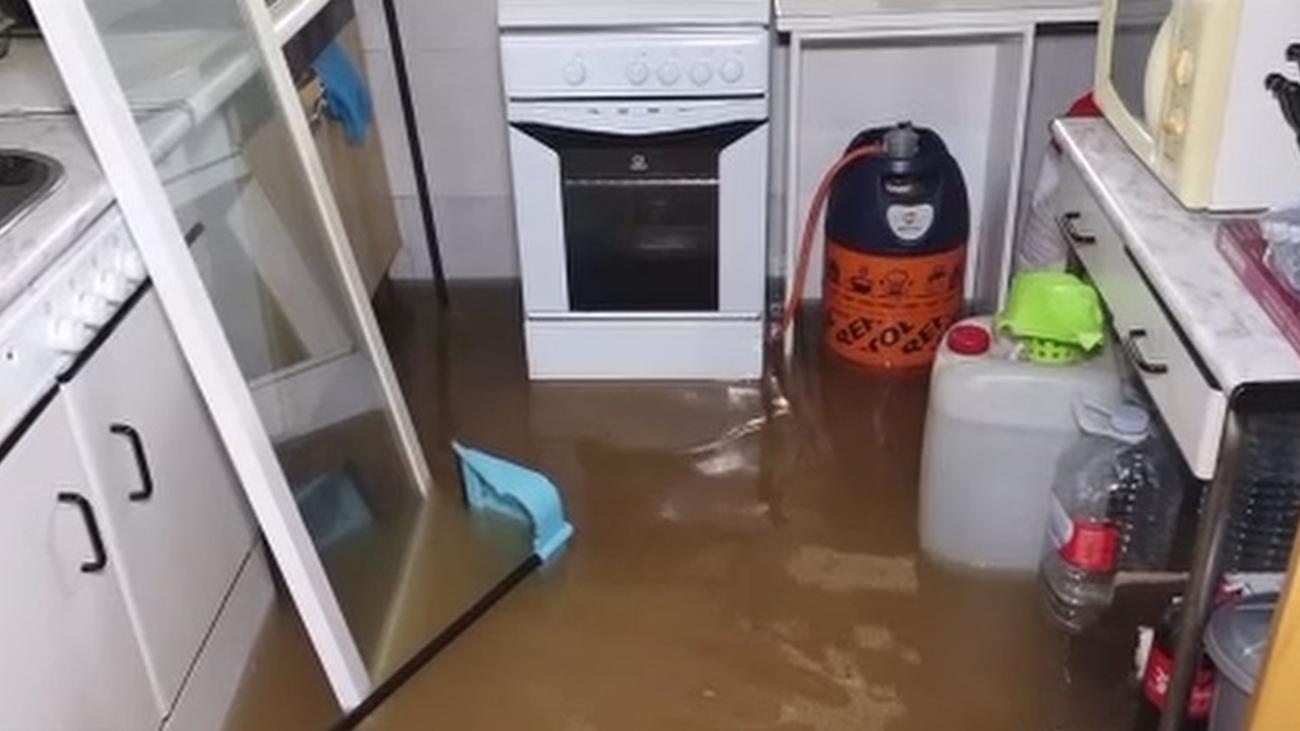 Las Sabinas en Móstoles inundadas por la lluvia