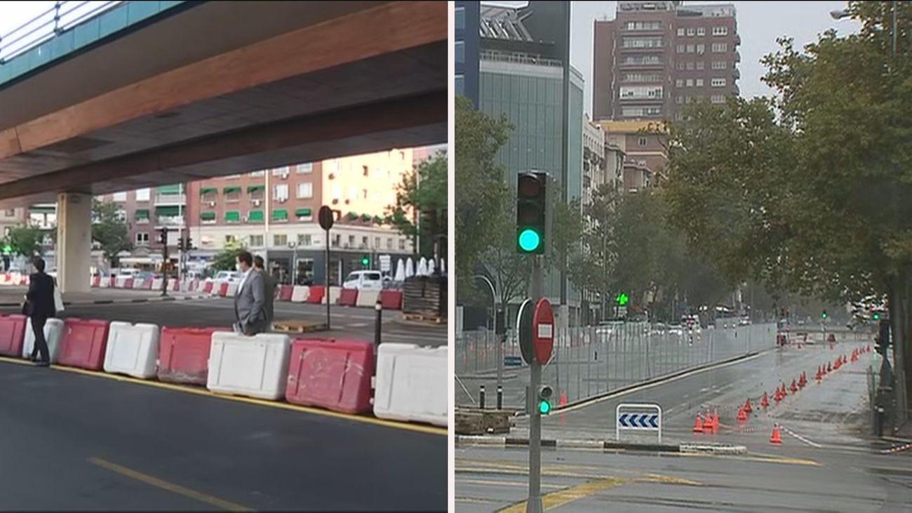 Vuelve la normalidad de la circulación en la zona del ya desaparecido puente de Joaquín Costa