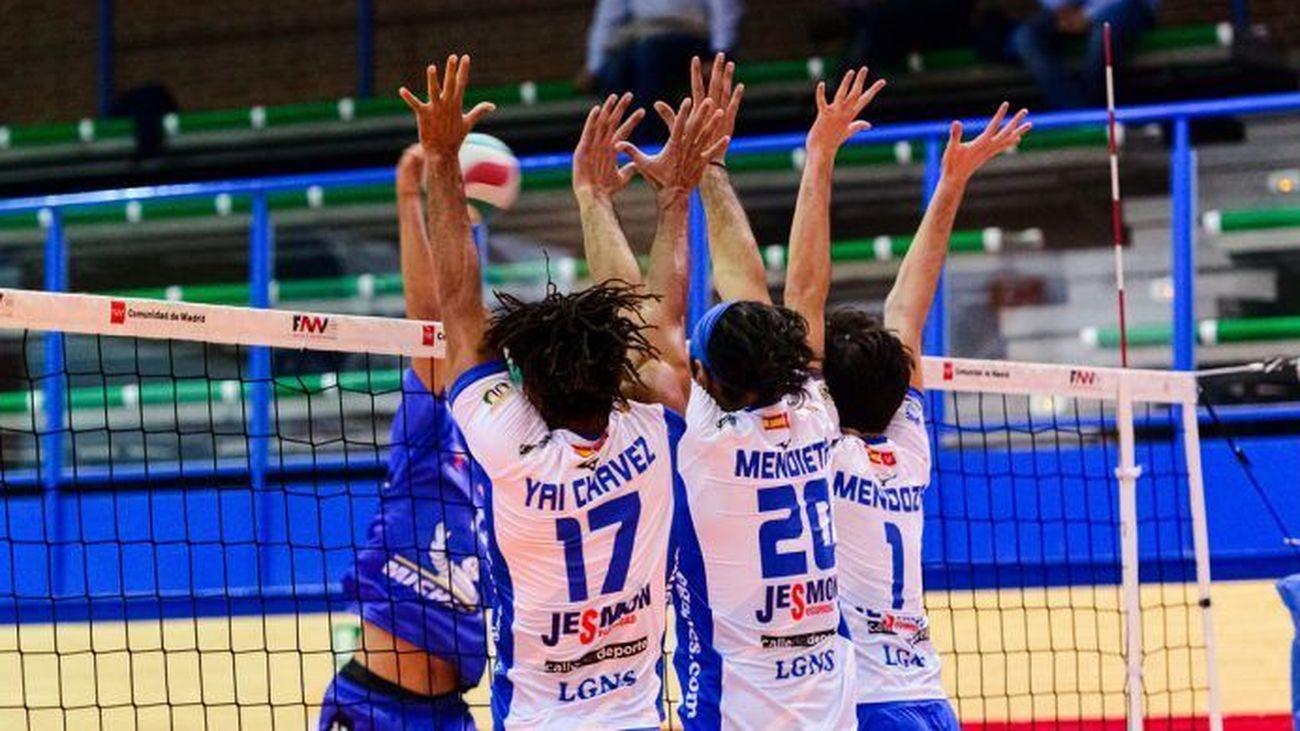 Victorias de los equipos masculino y femenino del Voleibol Leganés