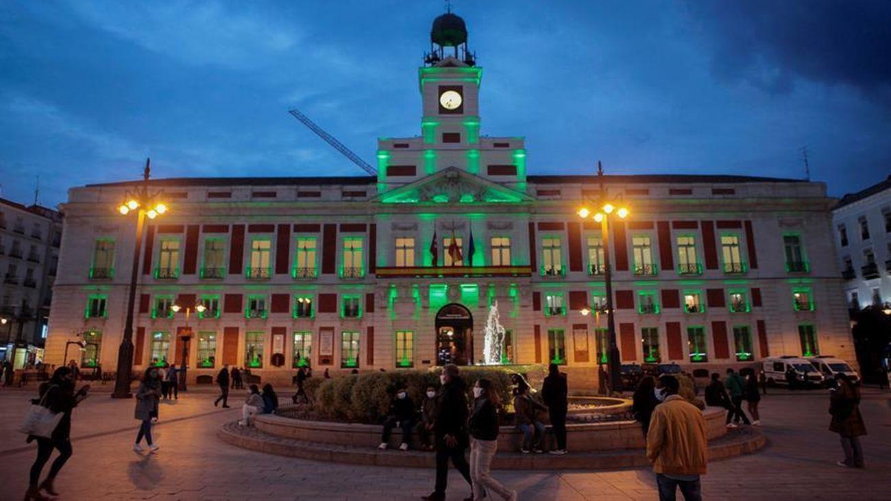 La Puerta del Sol, en horas nocturnas