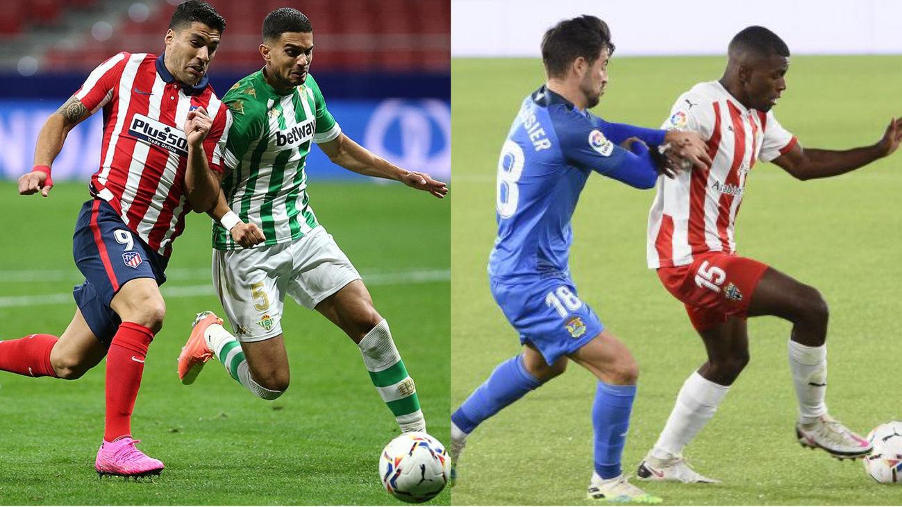 Atlético-Betis y Almería-Fuenlabrada