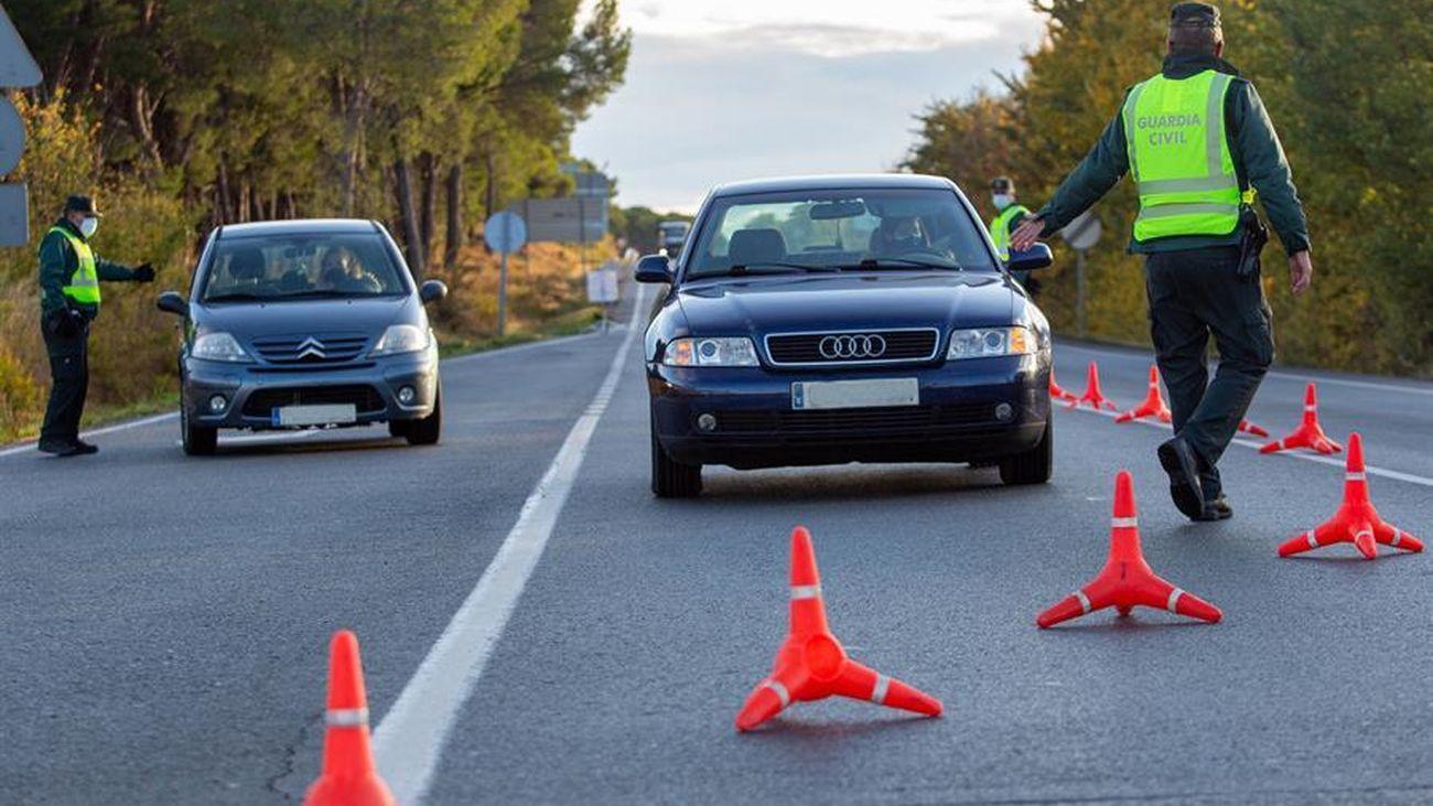 Control de la Guardia Civil entre La Rioja y Navarra