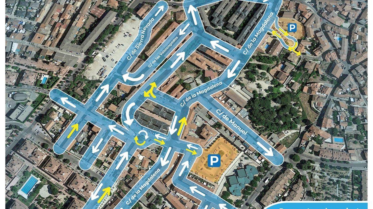 Propuesta reorganización del tráfico para el barrio de  La Magdalena