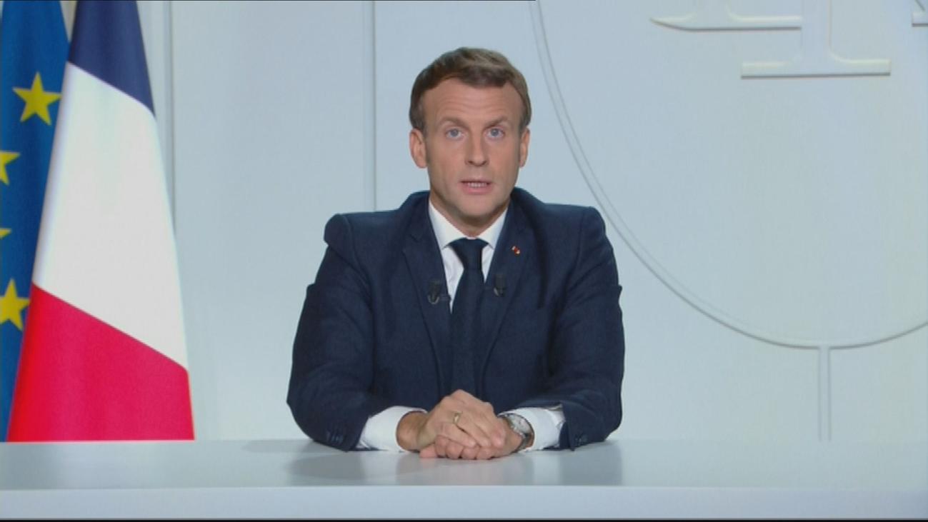 Macron anuncia un nuevo confinamiento nacional a partir  del viernes