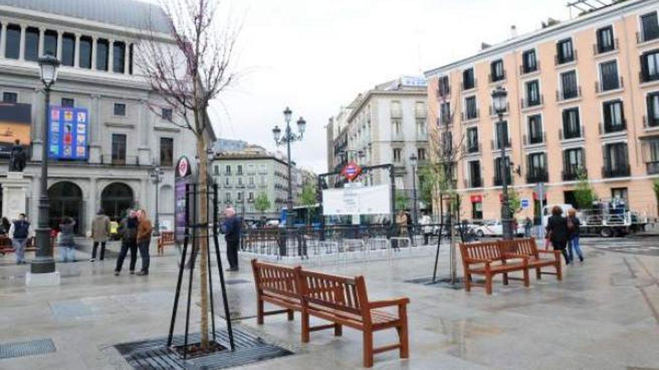 Plaza de la Ópera, en Madrid