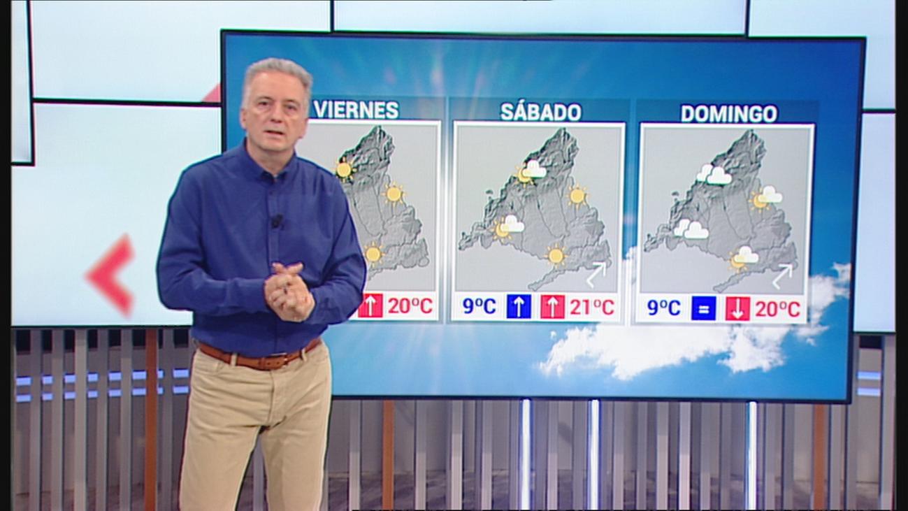 Cielos nubosos y temperaturas máximas en aumento para el Puente de Todos los Santos