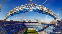 Así avanzan las obras de la nueva cubierta del Santiago Bernabéu