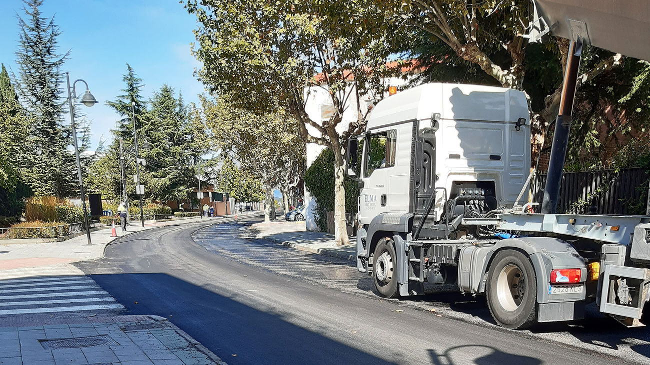 Finalizada la 'operación asfalto' en Galapagar