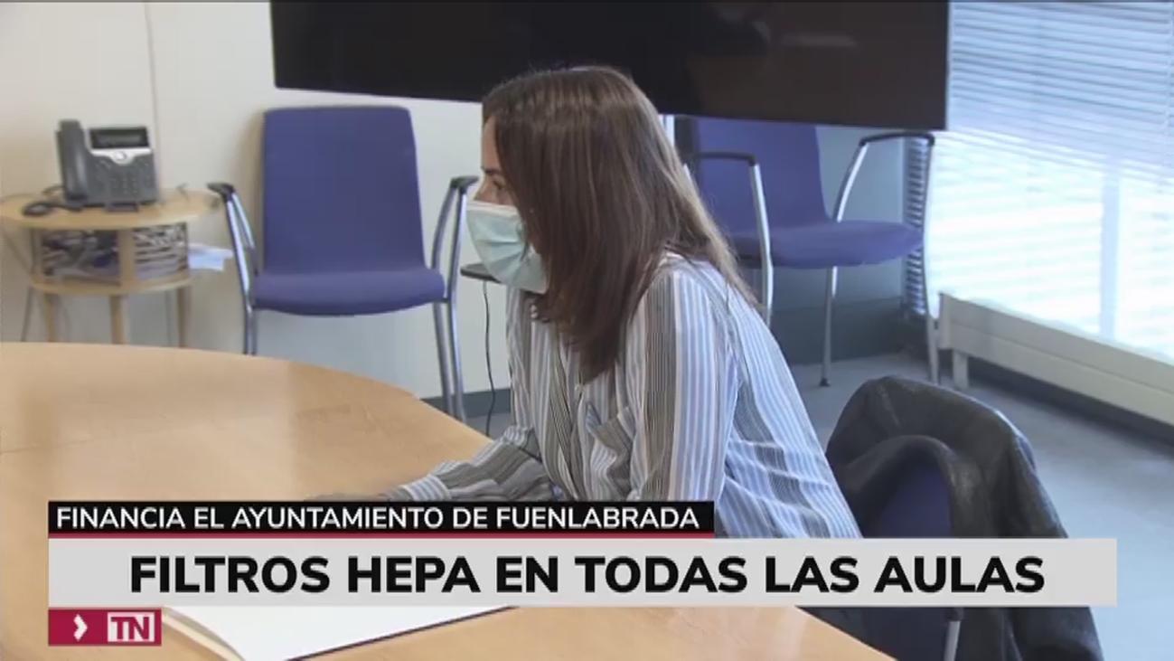 Fuenlabrada financiará  con 850.000 euros los filtros HEPA de las aulas educativas