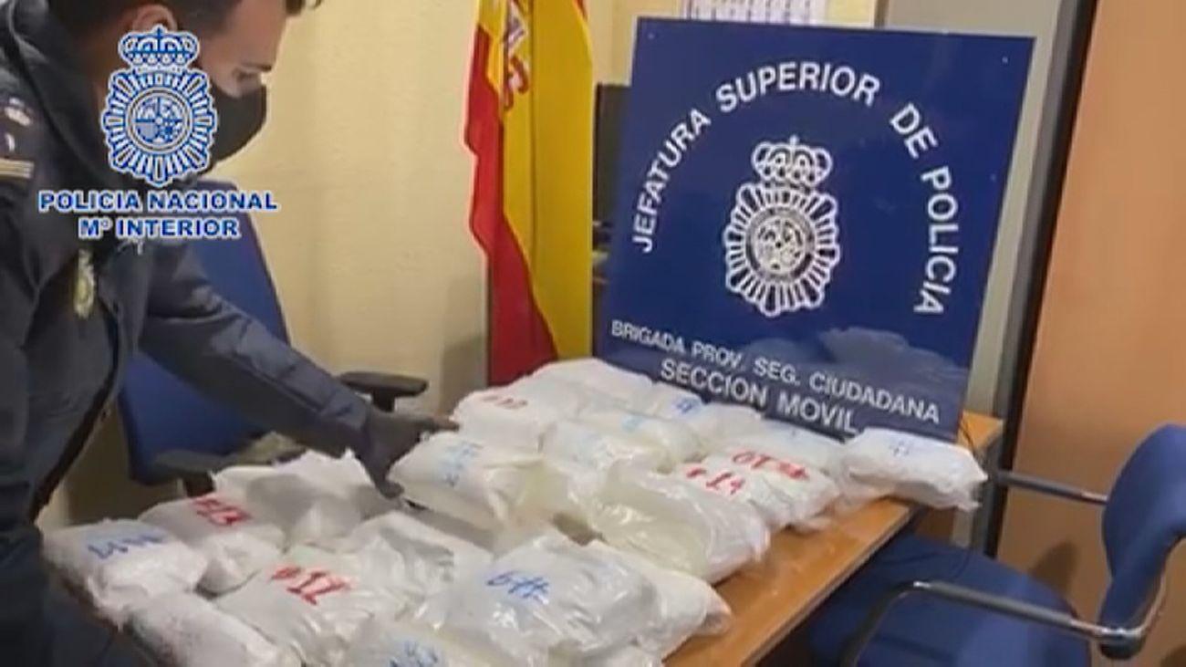 Detenido con 31 kilos de cocaína en la Estación Sur de autobuses