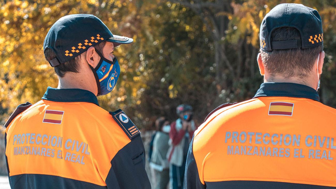 Miembros de la Agrupación de Protección Civil de Manzanares el Real