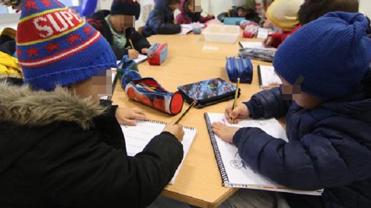 Piden aparatos de filtrado de aire en los colegios de Madrid porque los niños pasan frío en clase