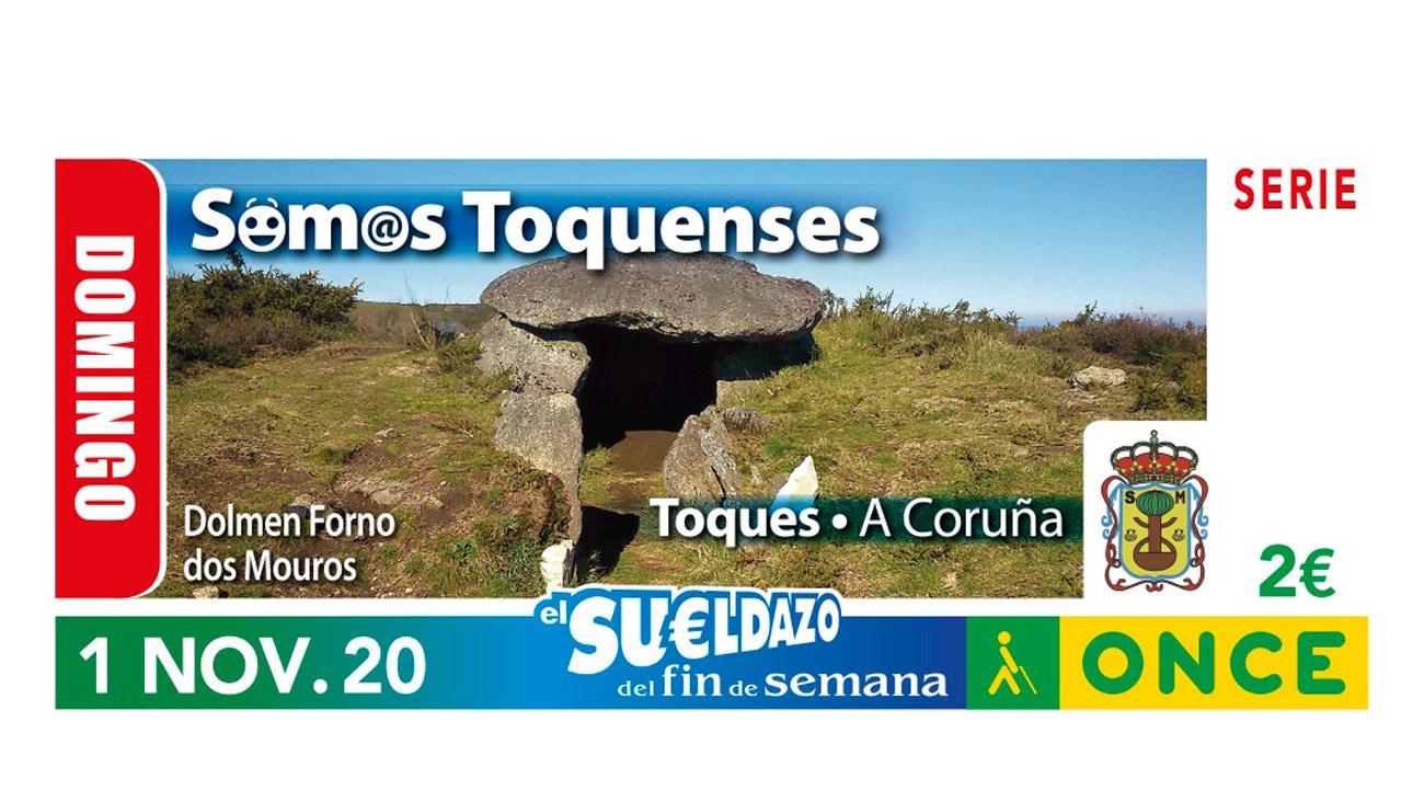 """Un cupón dedicado a los habitantes de Toques (A Coruña) inaugura una serie de la ONCE sobre gentilicios """"curiosos"""""""