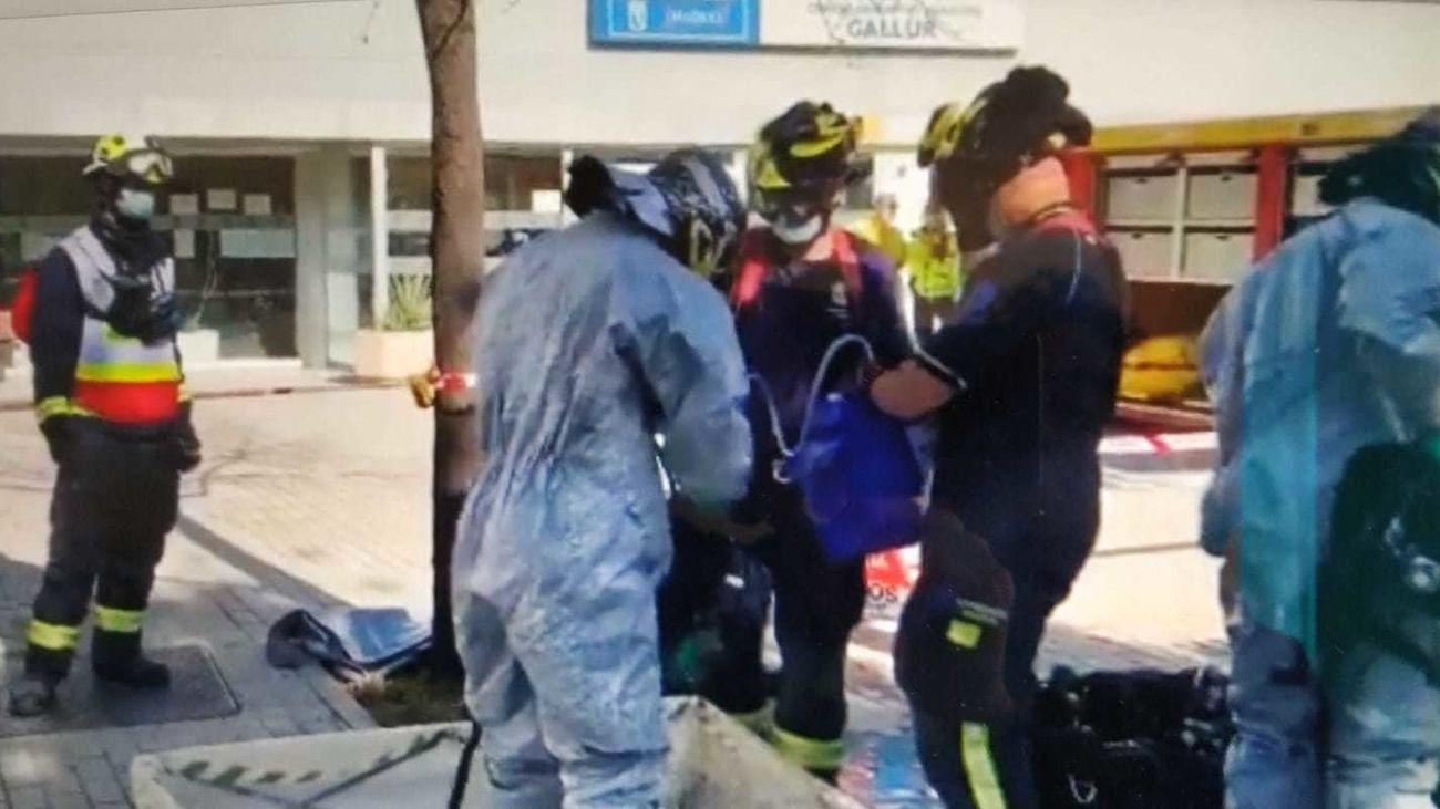 Escape químico sin heridos en el polideportivo municipal Gallur en Latina