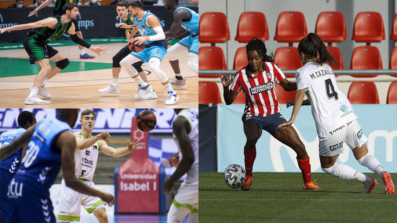 Estudiantes, Atlético femenino y Fuenlabrada baloncesto