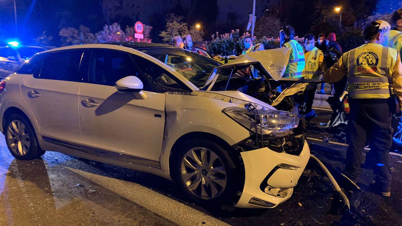 Imagen del accidente en la Avenida de Andalucía