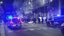 Disturbios y barricadas en pleno centro de Madrid