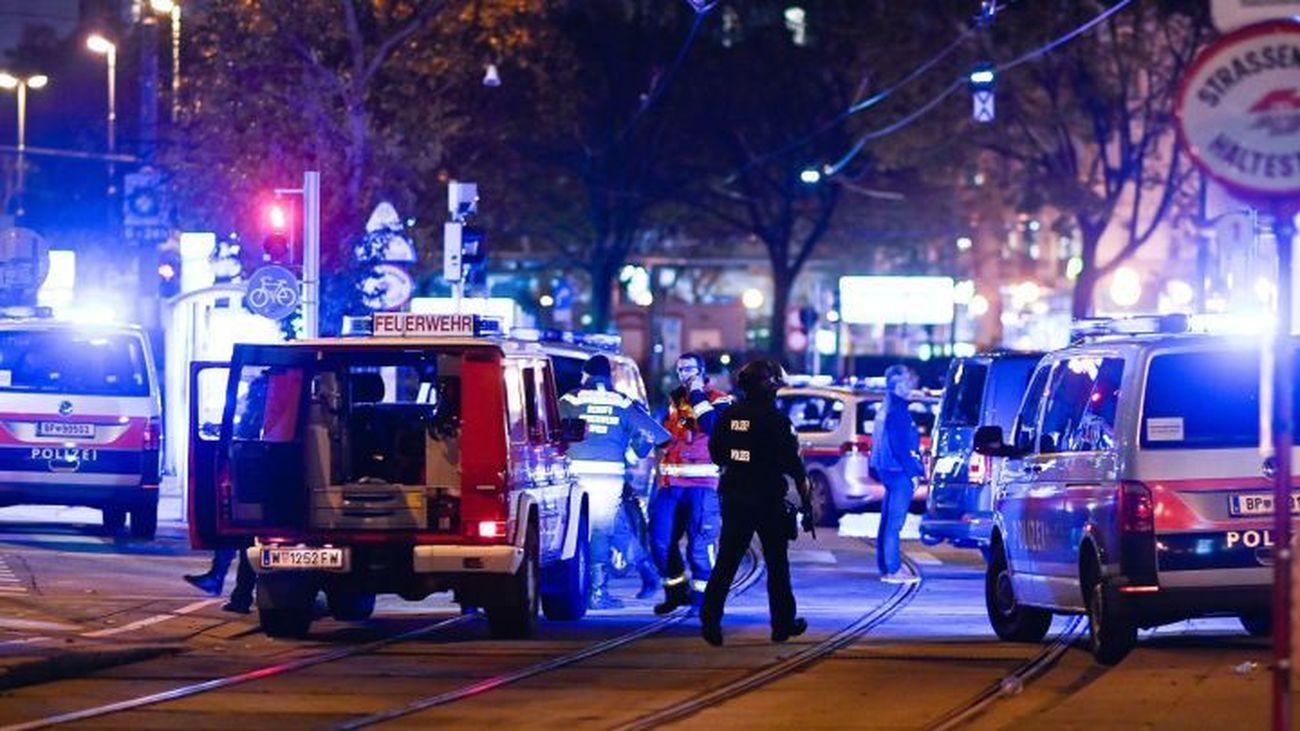 Zona del centro de Viena donde se han producido los atentados terroristas