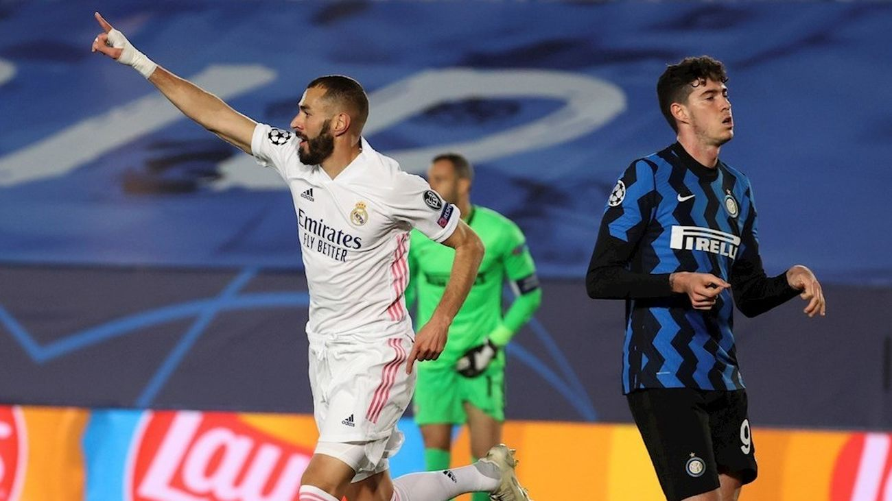 Benzema ante el Inter de Milán