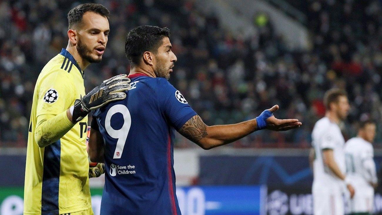 1-1. Un gran Atlético se queda sin la victoria ante el Lokomotiv