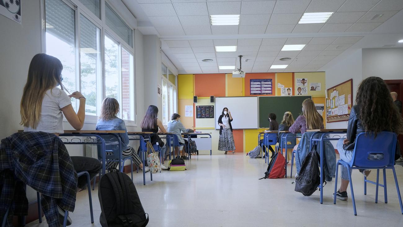Interior del aula de un centro educativo